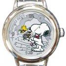 Snoopy Peanuts 60th Anniversary Round Italian Charm Watch