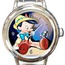 Cute Pinocchio Round Italian Charm Watch