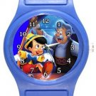 Gepetto and Pinocchio Blue Plastic Watch