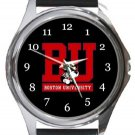 Boston University BU Round Metal Watch
