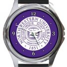 Northwestern University Round Metal Watch