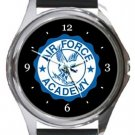 Air Force Academy Round Metal Watch