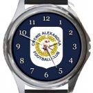 Crewe Alexandra Football Club Round Metal Watch