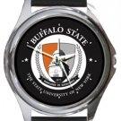 Buffalo State Round Metal Watch