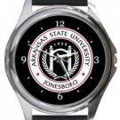 Arkansas State University Jonesboro Round Metal Watch