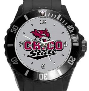 Chico State Wildcats Plastic Sport Watch In Black