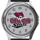 Chico State Wildcats Round Metal Watch