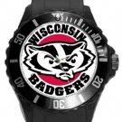 Wisconsin Badgers Plastic Sport Watch In Black