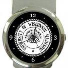 University of Wisconsin Madison Money Clip Watch