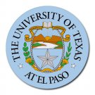 University of Texas at El Paso UTEP Heat-Resistant Round Mousepad