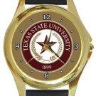 Texas State University Gold Metal Watch