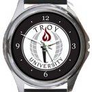 Troy University Round Metal Watch