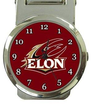 Elon University Phoenix Money Clip Watch