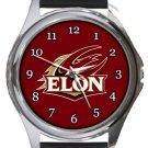 Elon University Phoenix Round Metal Watch