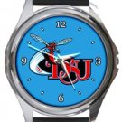 Delaware State Hornets Round Metal Watch