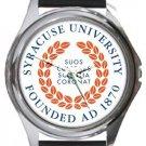 Syracuse University Round Metal Watch