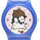 Funny Bare Bears Blue Plastic Watch