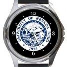 University of Nevada Reno Round Metal Watch