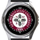 New Mexico State University Round Metal Watch