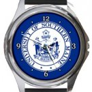 University of Southern Maine Round Metal Watch