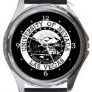 University of Nevada Las Vegas Round Metal Watch