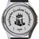 Northern Illinois University Round Metal Watch