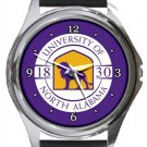 University of North Alabama Round Metal Watch