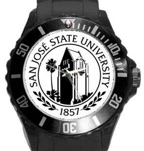 San Jose State University Plastic Sport Watch In Black