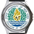 The University of New York Round Metal Watch