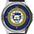 Notre Dame University Australia Round Metal Watch