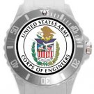 US Army Corps of Engineers Plastic Sport Watch In White