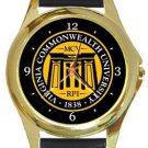 Virgina Commonwealth University Gold Metal Watch