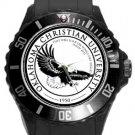 Oklahoma Christian University Plastic Sport Watch In Black