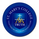 St. Mary's College Heat-Resistant Round Mousepad