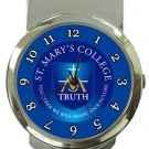 St. Mary's College Money Clip Watch
