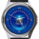St. Mary's College Round Metal Watch