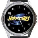 The Hurricanes Rugby Round Metal Watch