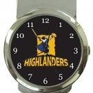 Highlanders Rugby Money Clip Watch
