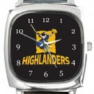 Highlanders Rugby Square Metal Watch