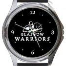Glasgow Warriors Round Metal Watch