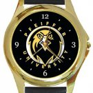 Pfeiffer University Gold Metal Watch