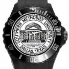 Southern Methodist University Plastic Sport Watch In Black