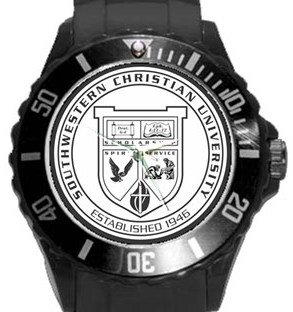 Southwestern Christian University Plastic Sport Watch In Black