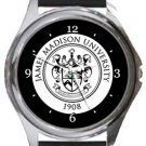The James Madison University Round Metal Watch