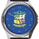 Solihull Moors FC Round Metal Watch