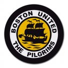 Boston United FC The Pilgrims Heat-Resistant Round Mousepad