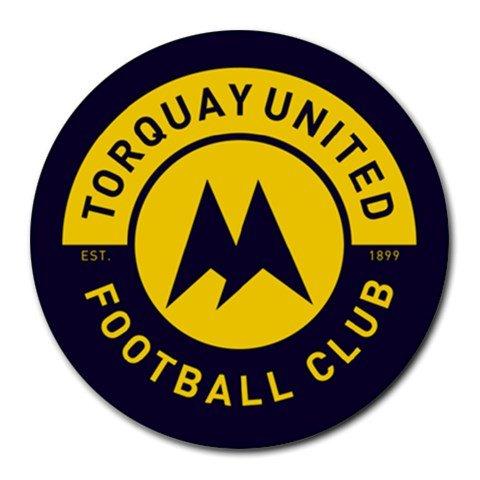 Torquay United FC Heat-Resistant Round Mousepad