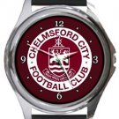 Chelmsford City FC Round Metal Watch