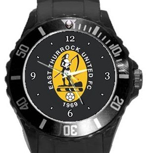 East Thurrock United FC Plastic Sport Watch In Black