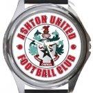 Ashton United FC Round Metal Watch